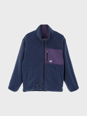 TAG REVERSIBLE FLEECE JACKET - NAVY