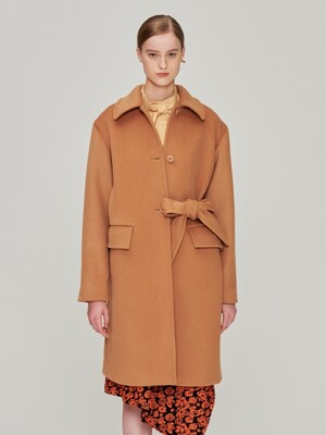 Belted Wool Coat_Brown