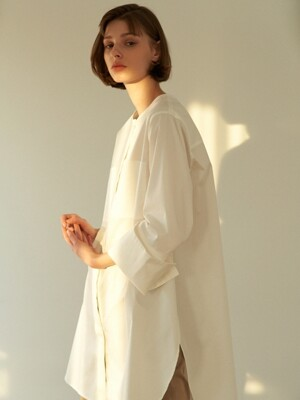 two pocket long shirt (ivory)