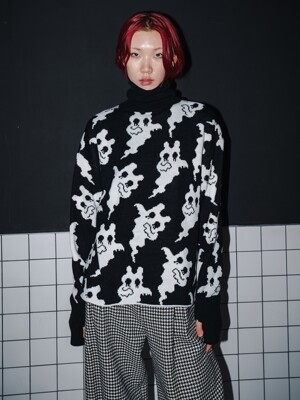 WHITE GHOSTERS KNIT_BLACK