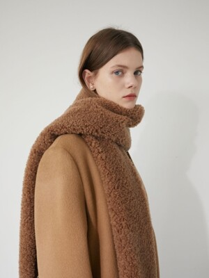 19' WINTER_CAMEL WOOL DUMBLE MUFFLER