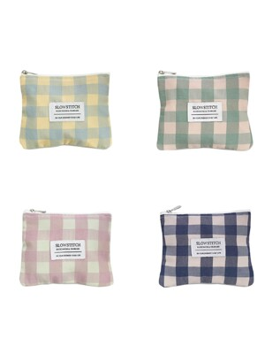 check mini pouch ( 4 colors )