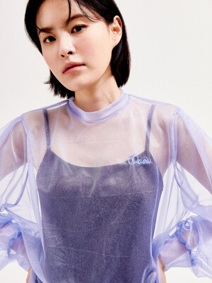 See through crop blouse SKY