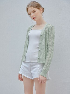 Sunshine Cardigan_Apple Green