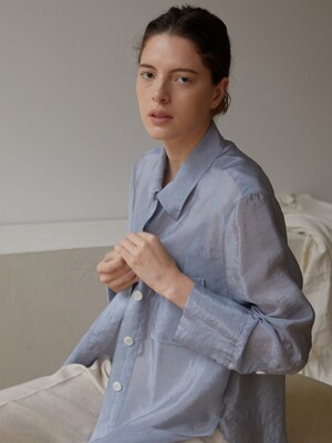 SILKY SHIRTS (LIGHT BLUE)