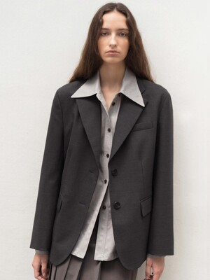 MARTIN MELANGE SINGLE JACKET (D/Grey)