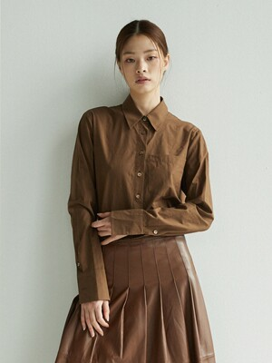YEOUINARU One pocket basic shirt (Dark brown)