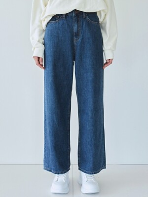 HIGH WAIST WASH WIDE JEAN_DENIM