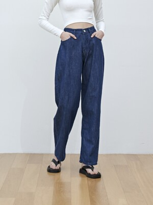 WIDE DENIM [DARK BLUE]