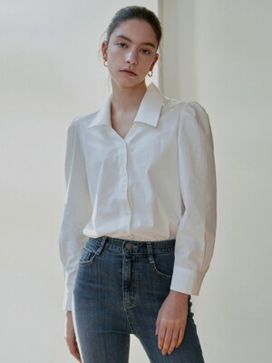 PLACKET PUFF SHIRT_IVORY