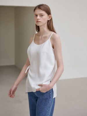 21SN sleeveless layered blouse [WH]