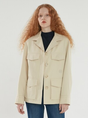 STANDARD FIELD JACKET LIGHT BEIGE (AEJU1E004I1)