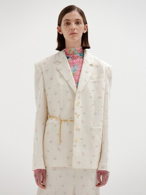 SAVA Single-Breasted Blazer - Ivory
