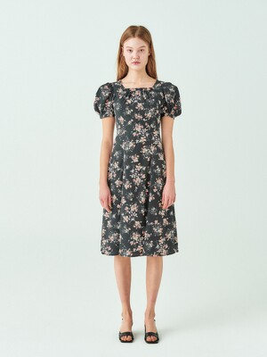 Flower Square Neck Dress