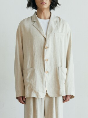unisex natural jacket beige