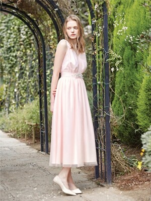 [S BLANC ceremony]ELAINE / Chiffon draping long dress