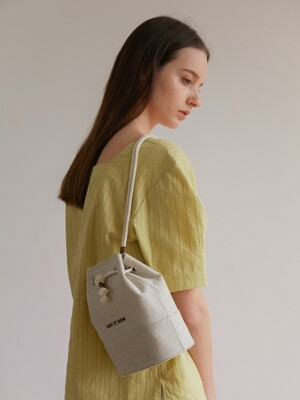 Corde Bucket Bag_BEIGE