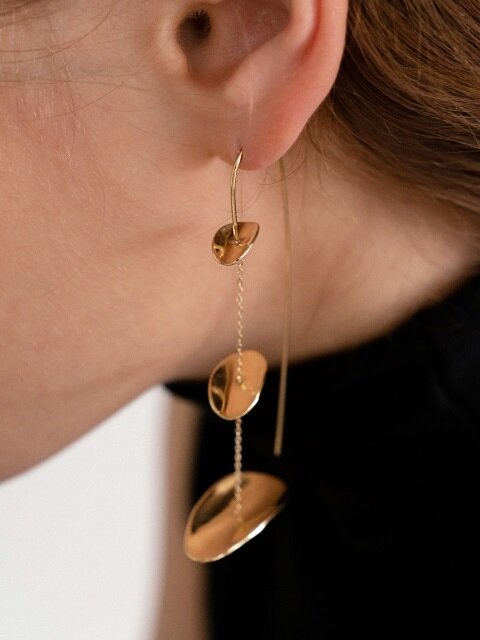 Drop chain seeds earring