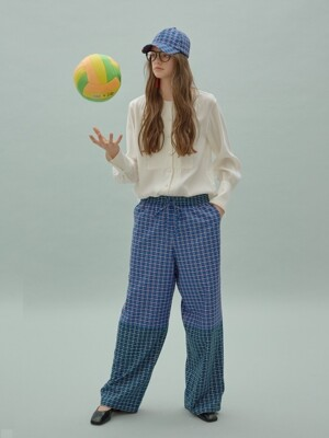 [리퍼브]Block Check String Pants
