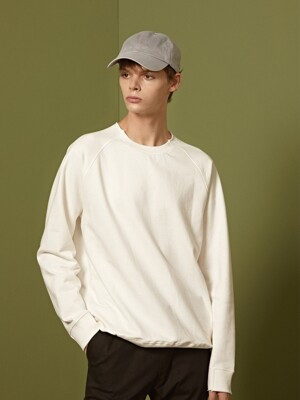 ODRAMP CUTTING SWEATSHIRTS - WHITE