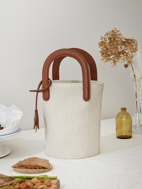 VASKET BAG LINEN [BROWN]