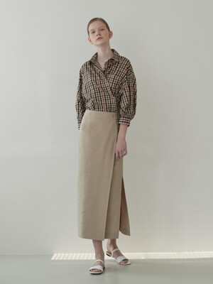 19MN Linen wrap skirt [BE]