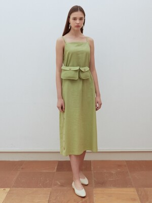 19summer pocket point dress green