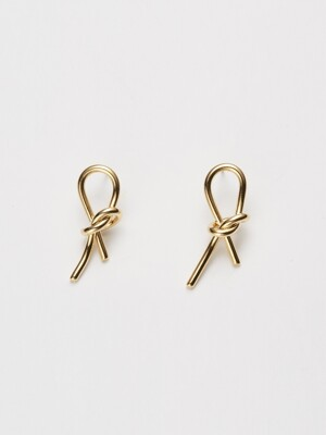 knot post earring