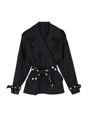 Lovers half trench jacket - Black