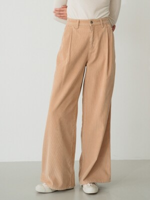corduroy wide pants (beige)