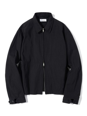 Zip-up Crew Jacket Black