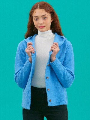 iuw526 hoody button cardigan (skyblue)