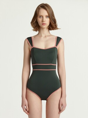 From Here Monokini_Deep Green