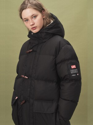 LIFE DUFFLE DOWN COAT_BLACK