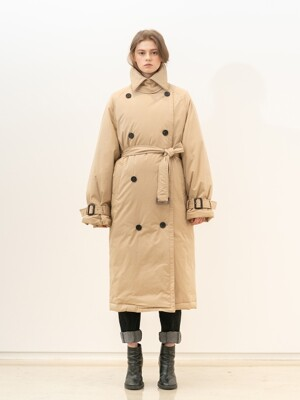 OVERSIZE FIT GOOSE DOWN TRENCH COAT (JSJC113)