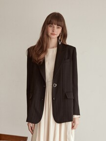 Single Stripe Jacket, Black
