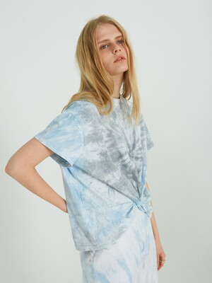 DYEING TWIST HALF T-SHIRTS_BLUE