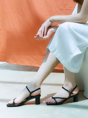 Flip-flop heel sandals_Black [LMS212]