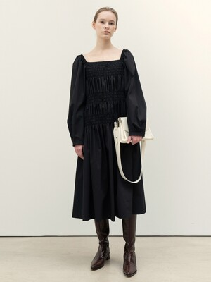 FW20 Smocked Dress Black