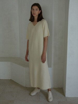 BAGLE KNIT DRESS (MILK)