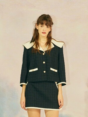 SAILOR COLLAR JACKET - NAVY