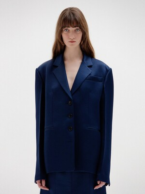 SAVA Single-Breasted Blazer - Navy