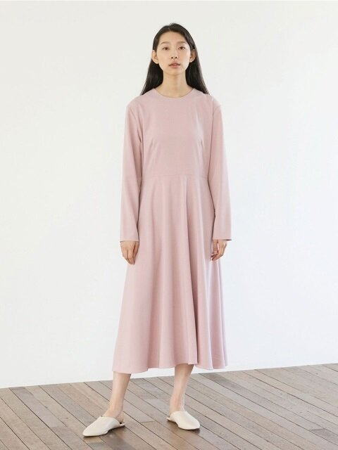 Light Flared Dress - Pink