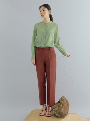 [flat] WINE COTTON BASIC CHINOS