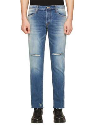 DAVID SLIM YOUTH BLUE DISTRESSED