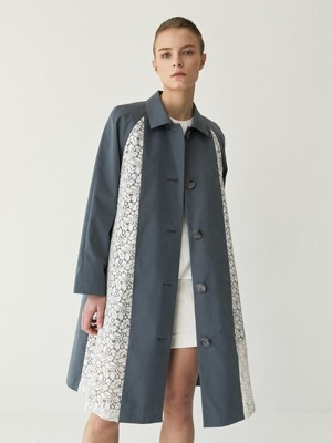 Julia Lace Dipped Trench Coat