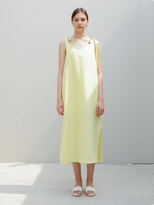 Linen Sundress/Lemon