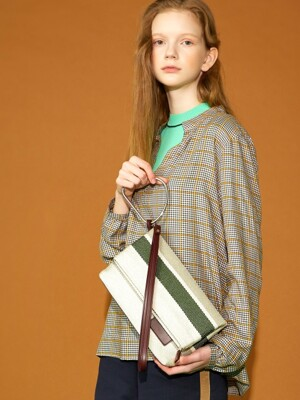 Bensimon Collection ELLY BAG - GREEN STRIPE