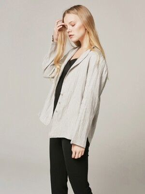 Linen Blouse Jacket Light gray