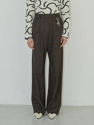 19FW BASIC WOOL PANTS - BROWN